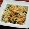 Fettuccine with Squash, Arugula, and Pine Nuts