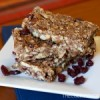 Chewy Chocolate Cherry Granola Bars