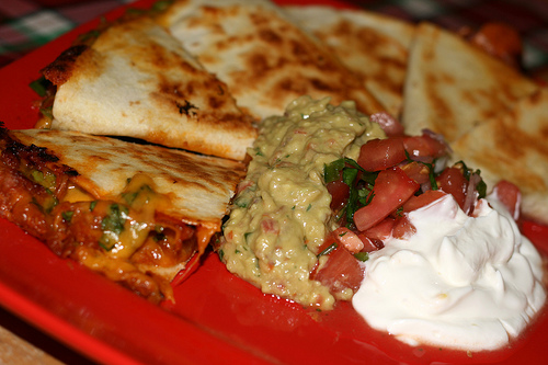 pulled pork quesadilas