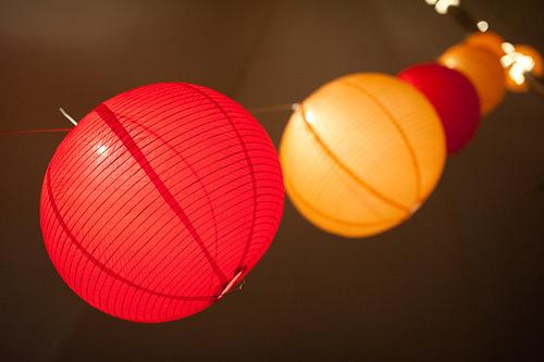 wedding reception chinese lanterns