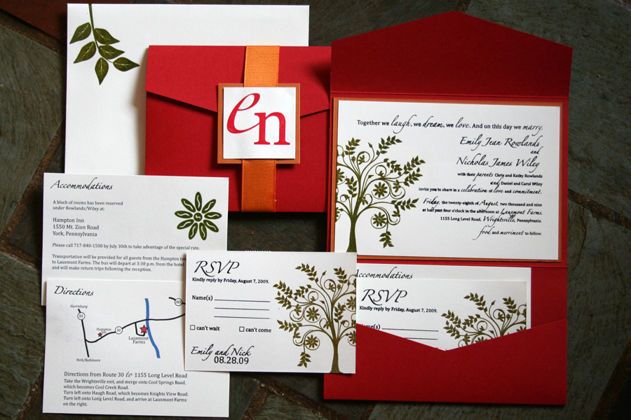 wedding invitaitons gocco