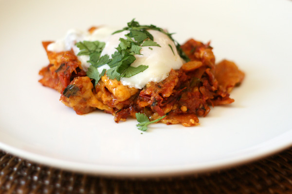 Chilaquiles With Poached Eggs And Black Beans Recipe ...