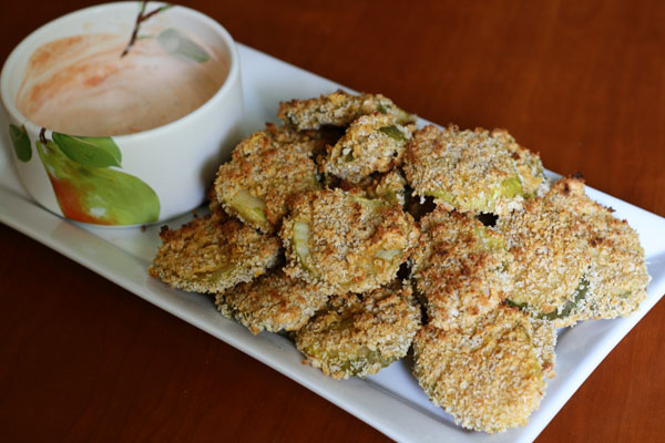 Image Gallery oven fried pickles