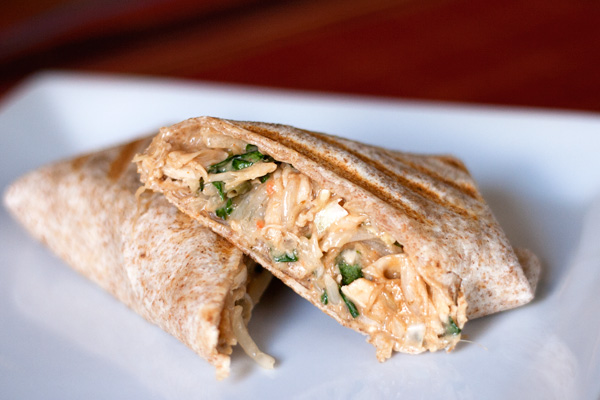The Culinary Couple » Thai Chicken Wraps