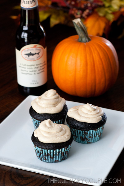 The Culinary Couple » Pumpkin Ale Cupcakes with Spiced Buttercream ...
