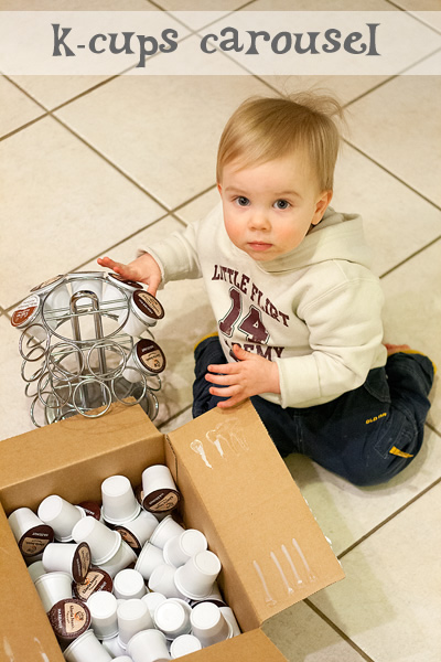 busy toddlers: k-cups carousel