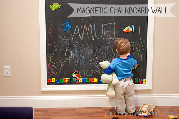 magnetic chalkboard wall | theculinarycouple.com