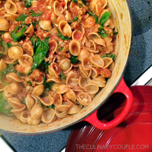 Orecchiette with Sausage Sauce – The Culinary Couple