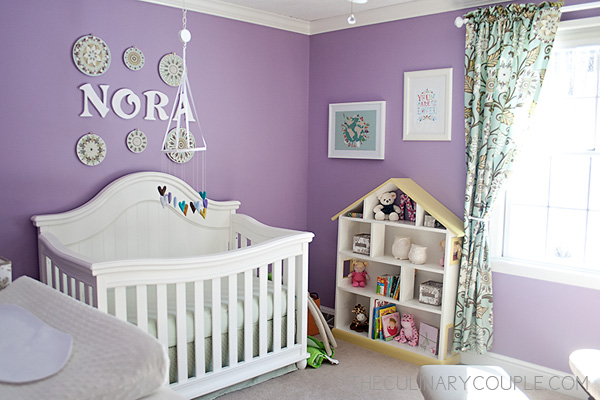 Next We Found A Shade Of Paint That Matched The Purple In Curtains Had Always Envisioned Nursery For Our Daughter